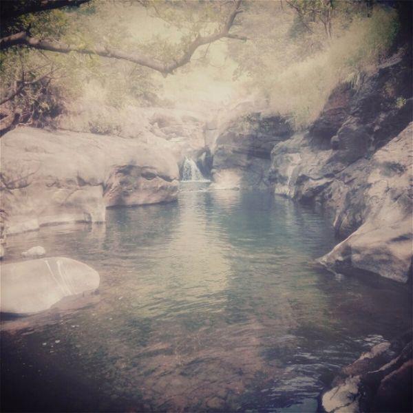 second water stream at devkund waterfall