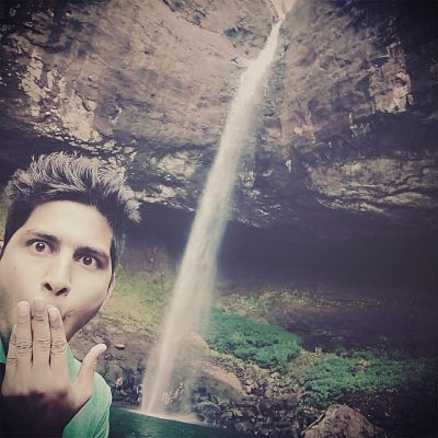 myself at devkund waterfall