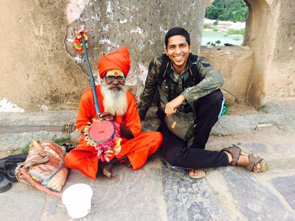 Gautam-with-a-sadhu-baba